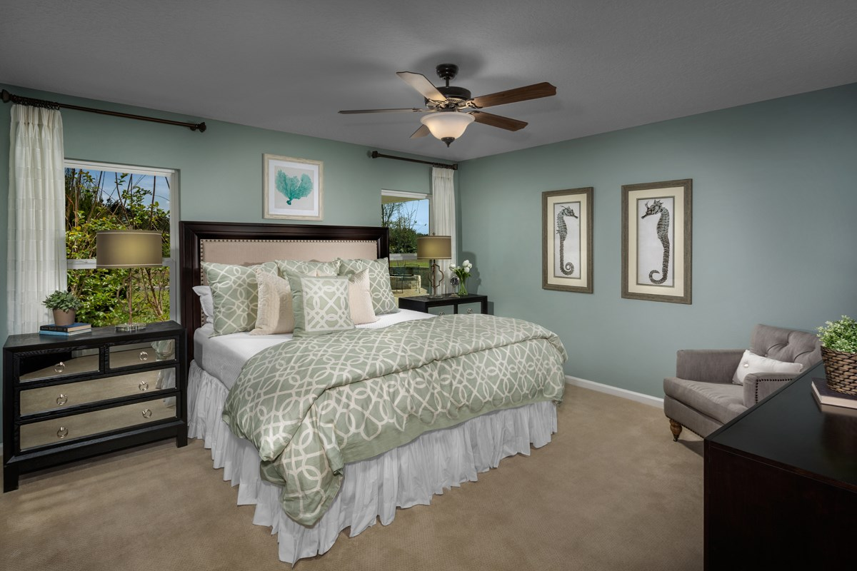 New Homes in Orange Park , FL - Forest Hammock at Oakleaf Plantation The Captiva Master Bedroom