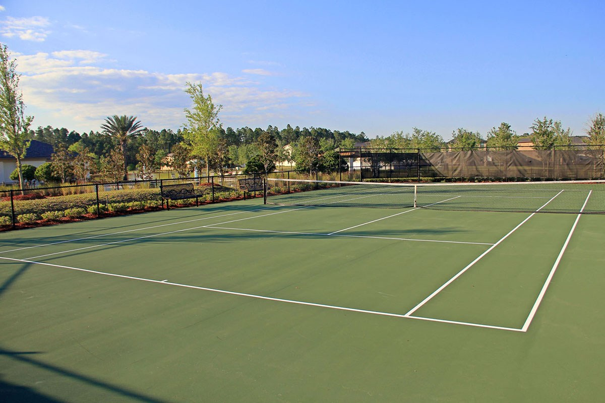 New Homes in Orange Park , FL - Forest Hammock at Oakleaf Plantation Tennis courts