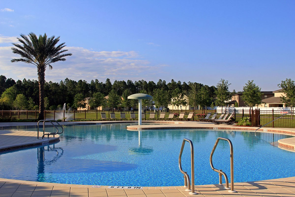 New Homes in Orange Park, FL - Forest Hammock at Oakleaf Plantation Community pool