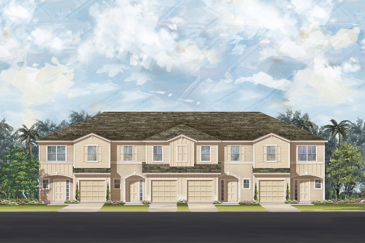 New Homes in Ormond Beach, FL - Gardens at Addison Oaks 4-Plex