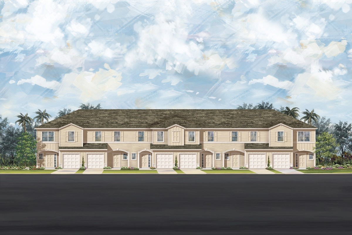 New Homes in Ormond Beach, FL - Gardens at Addison Oaks 6-Plex