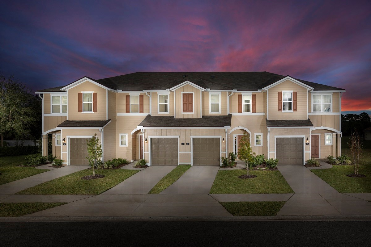 New Homes in Ormond Beach, FL - Gardens at Addison Oaks 4 Plex