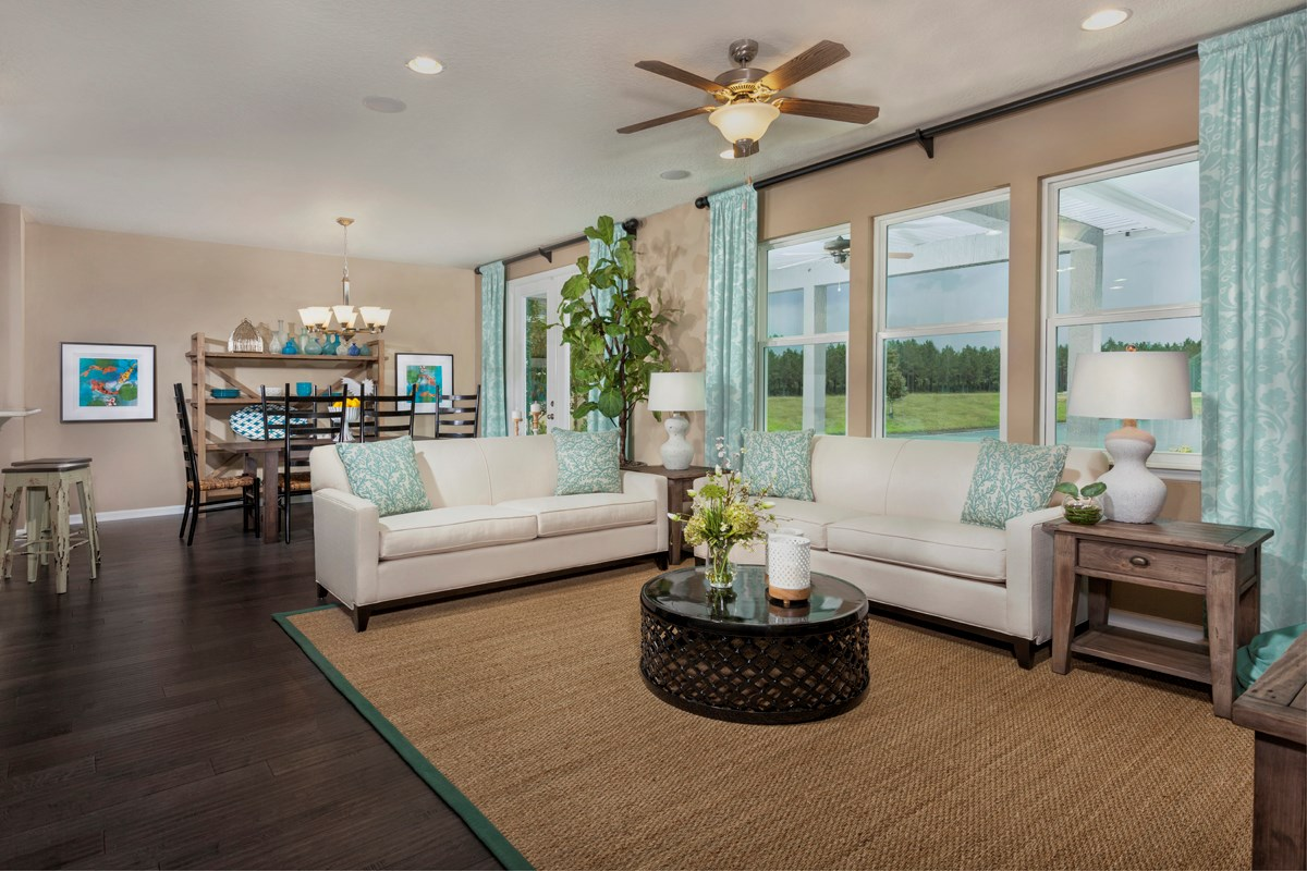 New Homes in St. Johns, FL - The Crossings at Glen St. Johns The Hawthorne Great Room