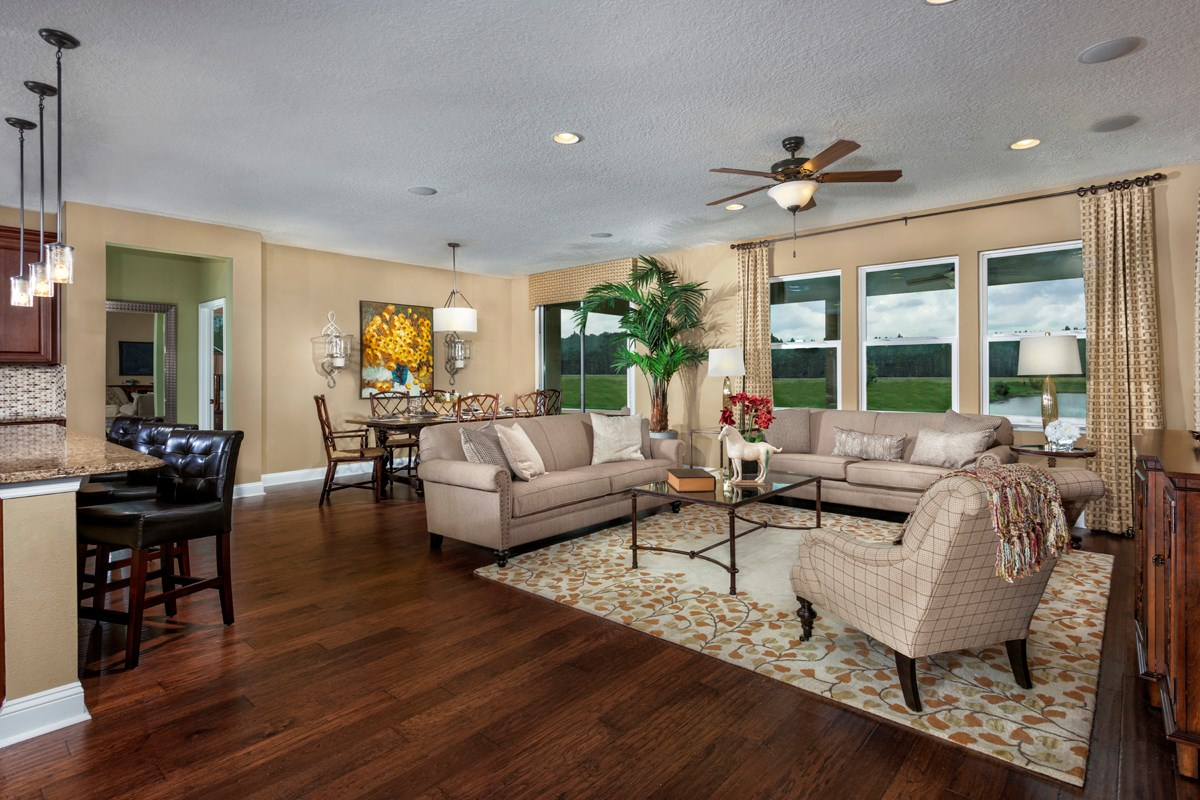New Homes in St. Johns, FL - The Crossings at Glen St. Johns The Portland Great Room