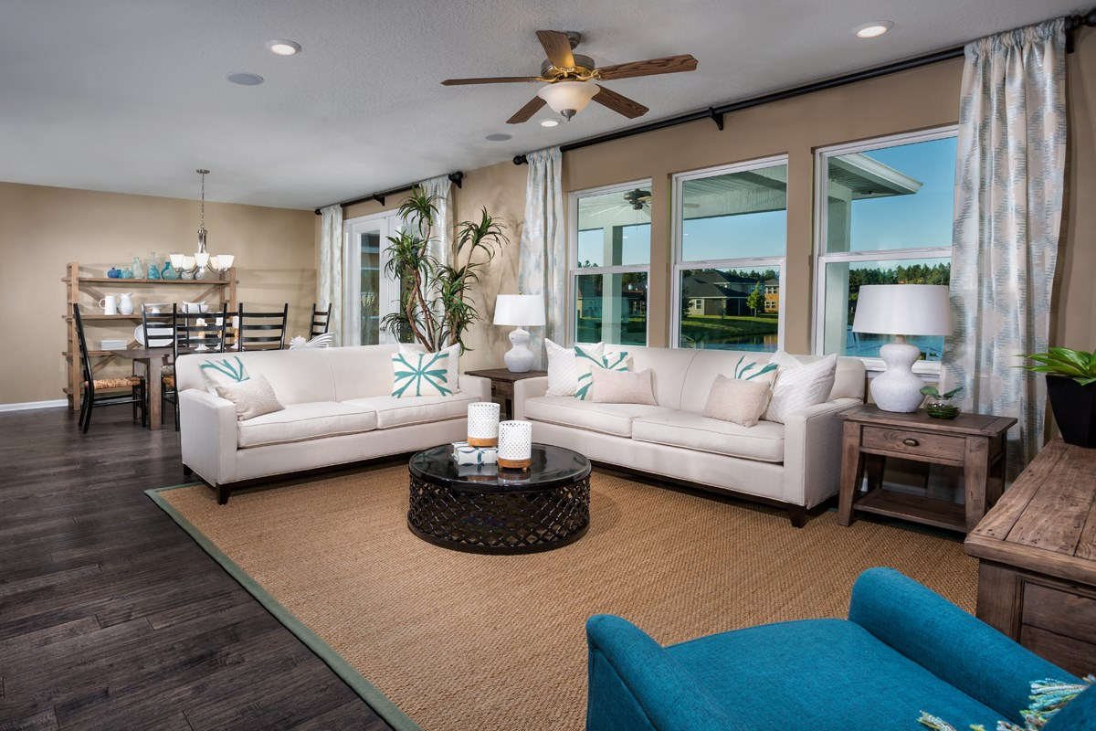 New Homes in St. Johns County, FL - Glen St. Johns The Hawthorne Great Room
