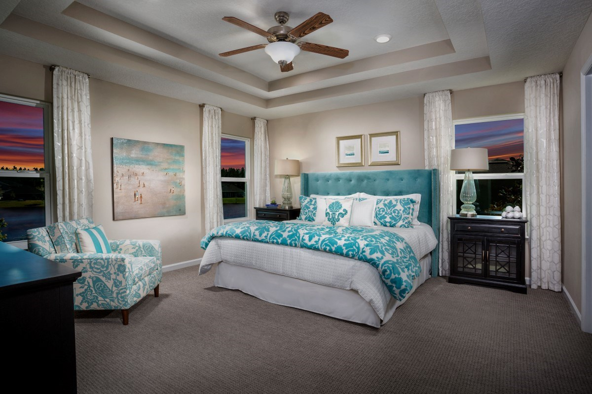 New Homes in St. Johns, FL - Glen St. Johns The Hawthorne Master Bedroom