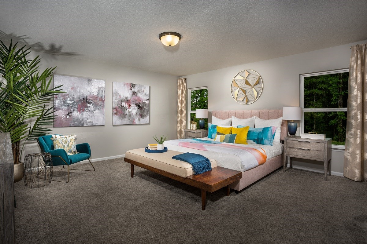New Homes in Jacksonville, FL - Greene Meadows The Dalton Mater Bedroom