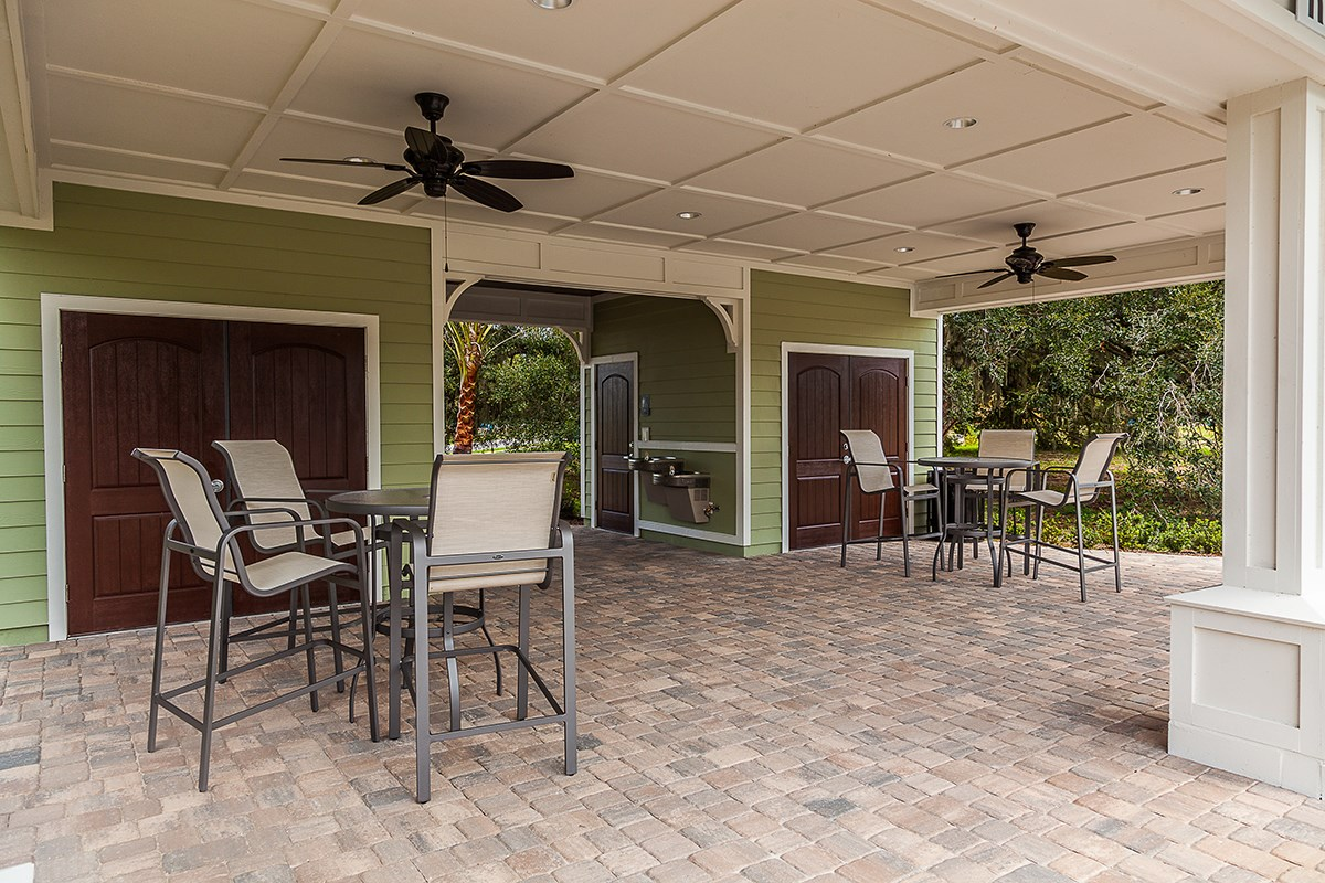 New Homes in St. Johns County, FL - Heritage Oaks Amenity Covered Patio Area