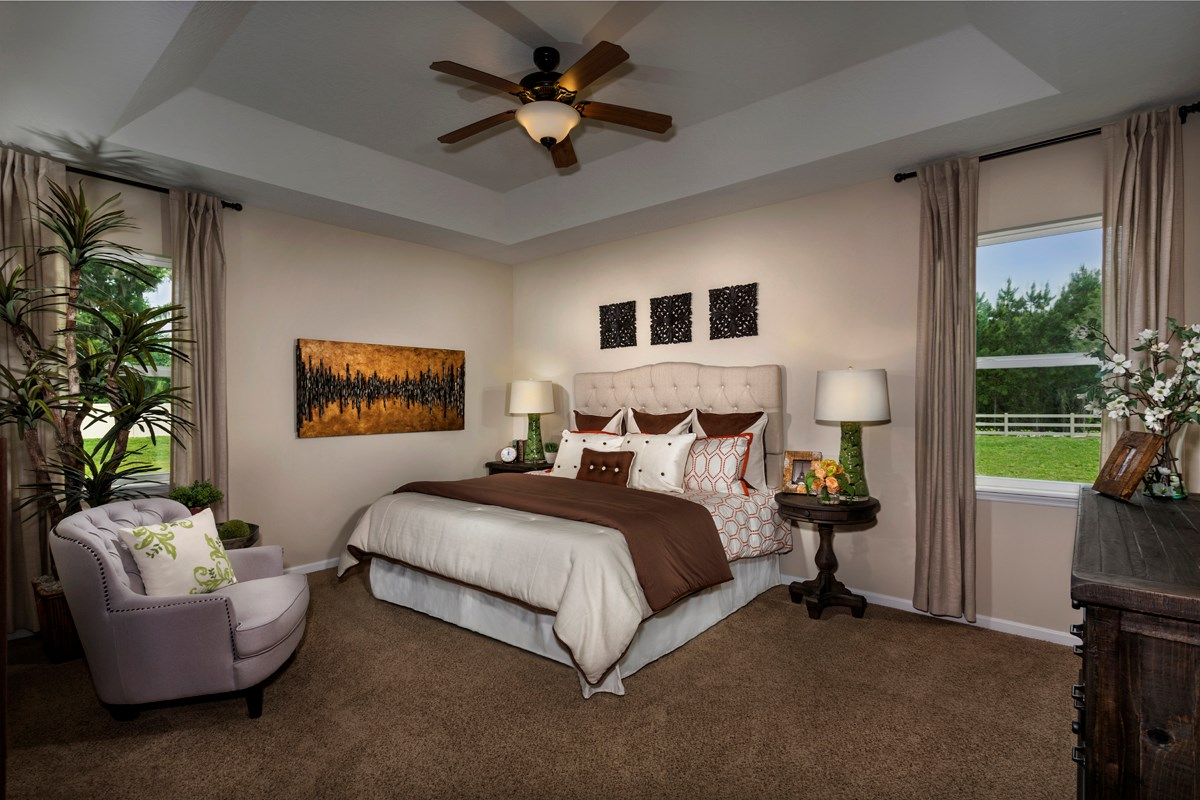 New Homes in St. Johns County, FL - Heritage Oaks The Brookhaven Master Bedroom