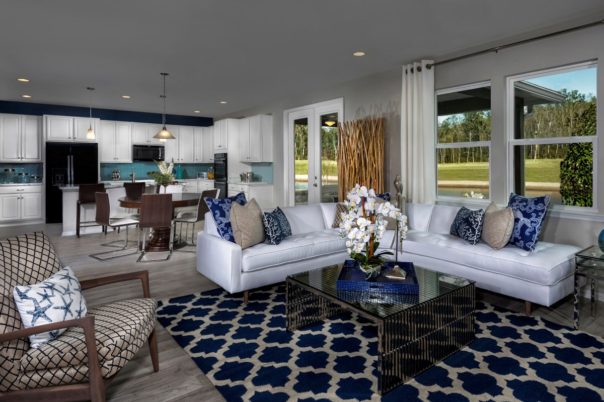 New Homes in St. Johns County, FL - Heritage Oaks The Maston Greatroom