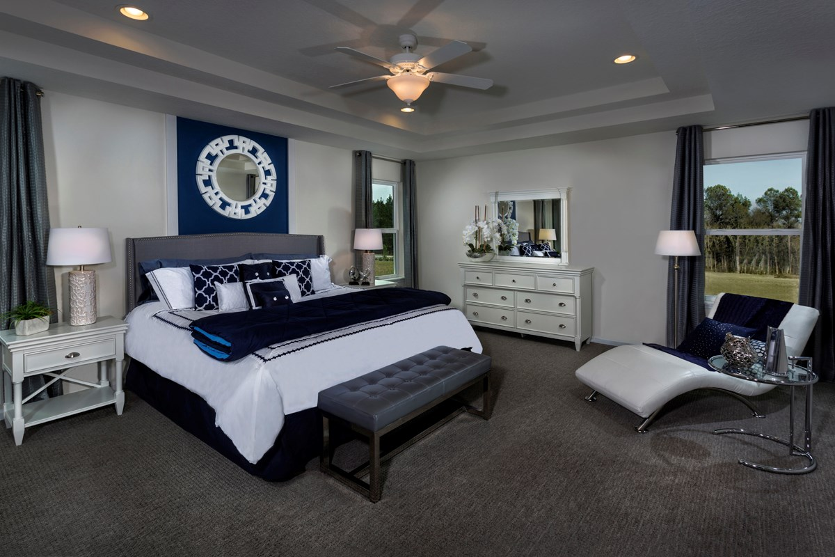 New Homes in St. Johns County, FL - Heritage Oaks The Maston Master Bedroom