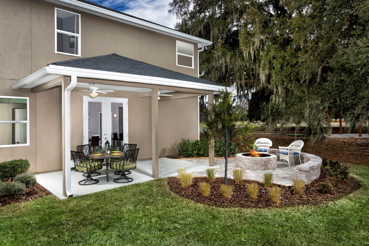 New Homes in St. Johns, FL - Heritage Oaks The Maston Patio