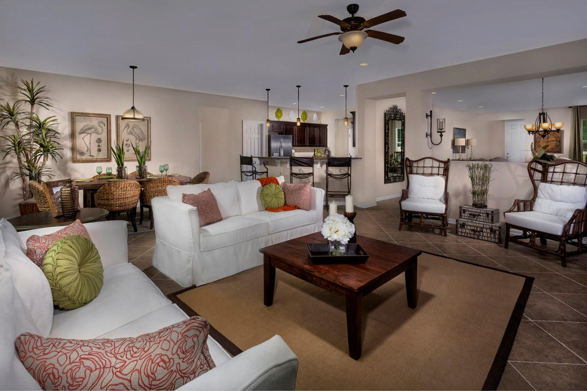 New Homes in St. Johns County, FL - Heritage Oaks The Brookhaven Great Room