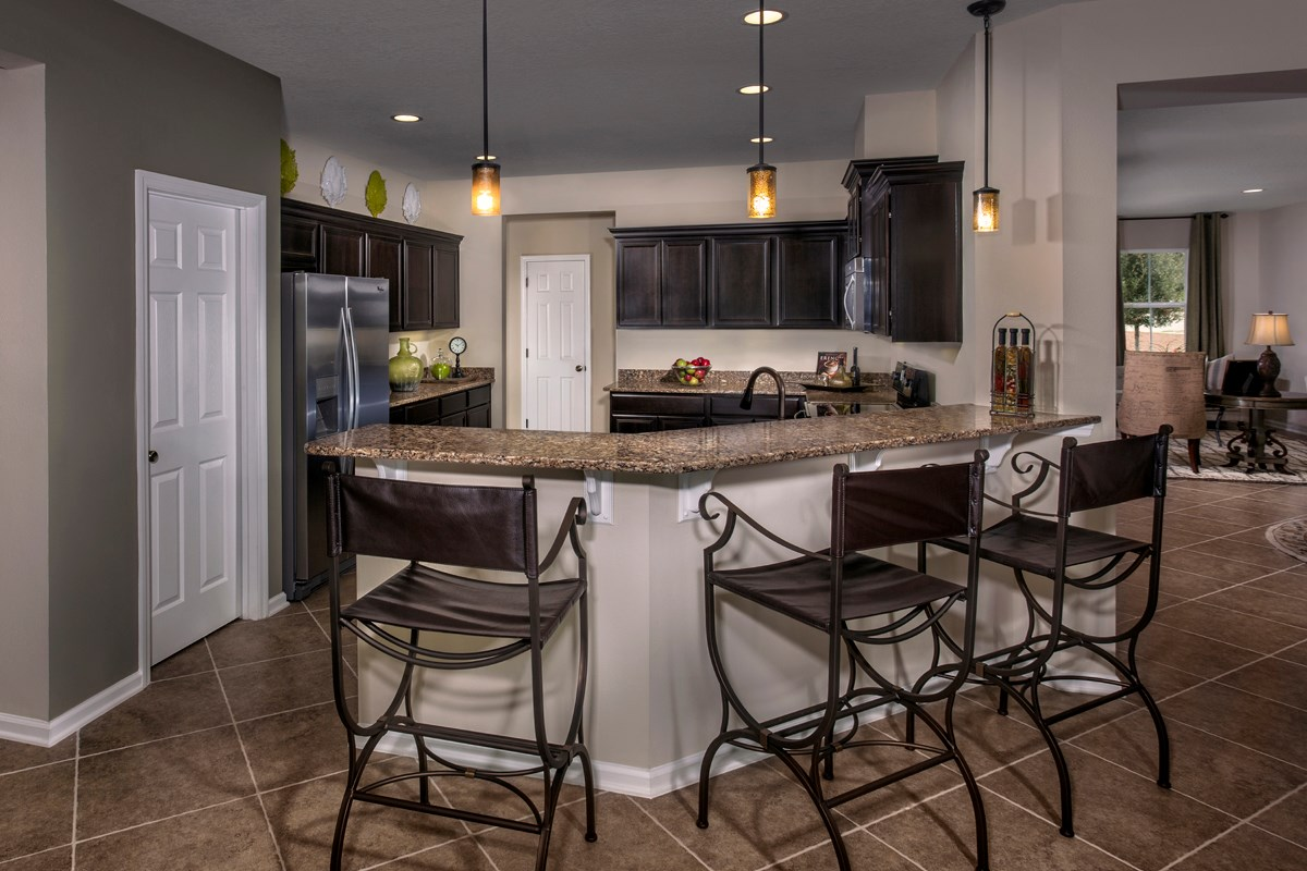 New Homes in St. Johns County, FL - Heritage Oaks The Brookhaven Kitchen