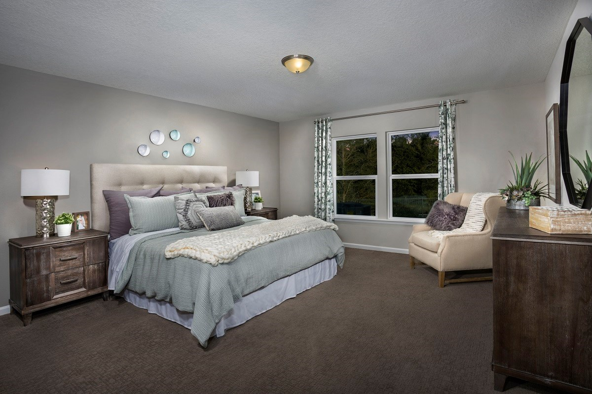 New Homes in Jacksonville, FL - Logan Pointe The Covington Master Bedroom