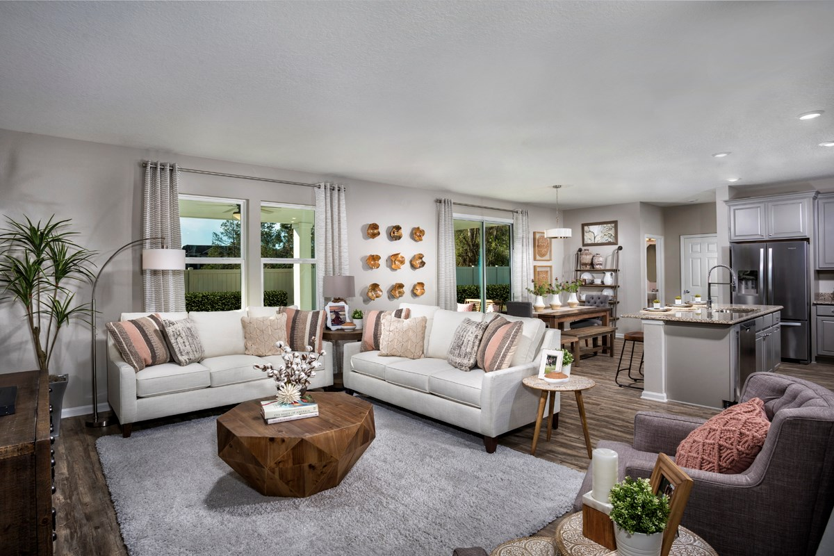 New Homes in Jacksonville, FL - Magnolia Grove The Palm Great Room