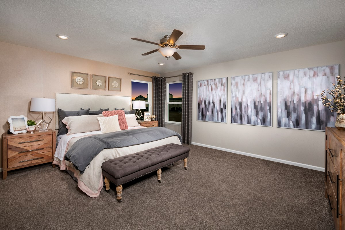New Homes in Jacksonville, FL - Magnolia Grove The Palm Master Bedroom