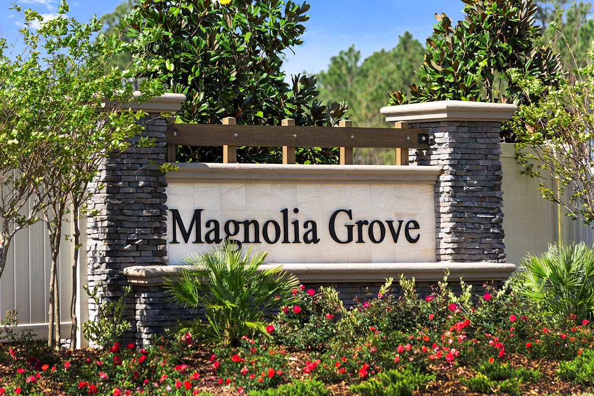 New Homes in Jacksonville, FL - Magnolia Grove Entry Monument
