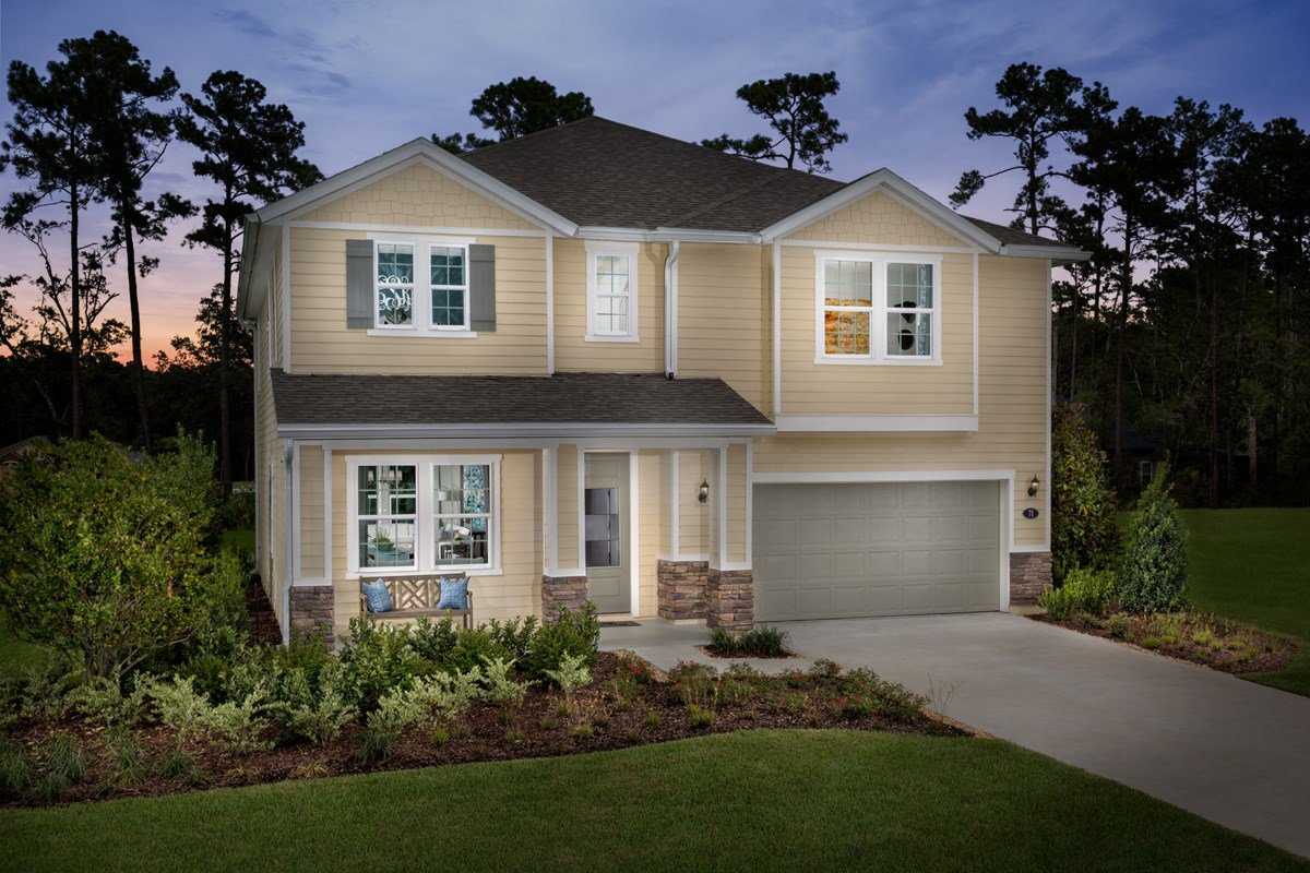 New Homes in Jacksonville, FL - Village Park The Palm as modeled at Mill Creek Plantation