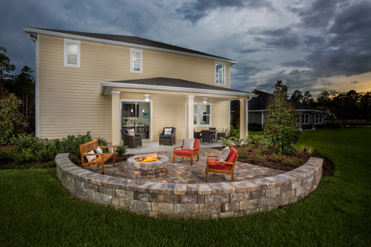 New Homes in St. Johns County, FL - Mill Creek Plantation The Palm Patio