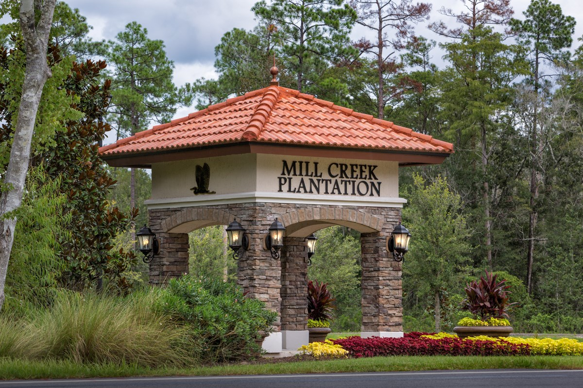 New Homes in St. Johns County, FL - Mill Creek Plantation Monument Entry Sign