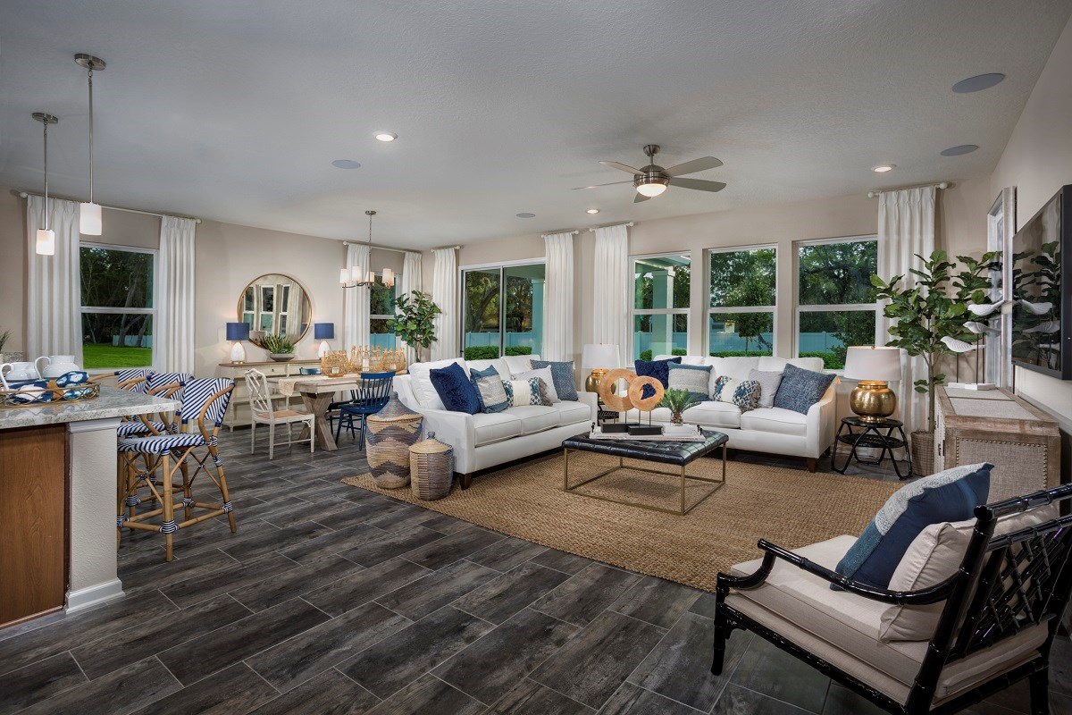 New Homes in Jacksonville, FL - Oakwood Manor The Claremont Great Room
