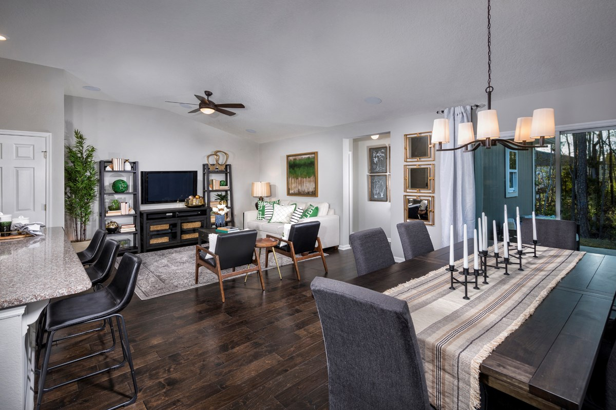 New Homes in Jacksonville, FL - Preston Pines The Branson Great Room