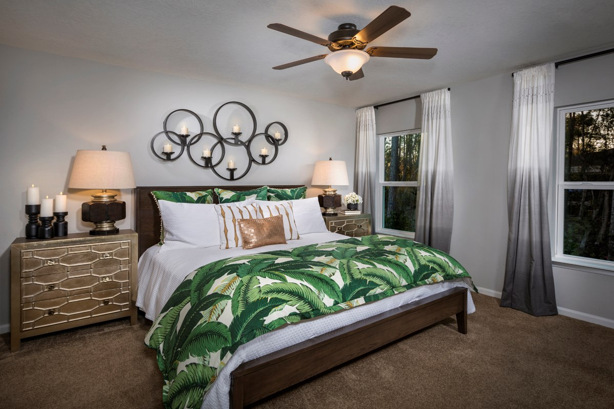 New Homes in Jacksonville, FL - Preston Pines The Branson Master Bedroom