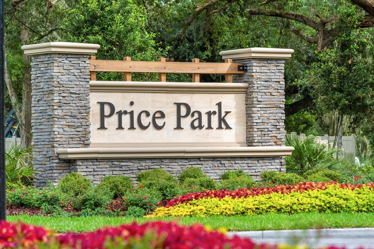 New Homes in Jacksonville, FL - Price Park Entry Monument