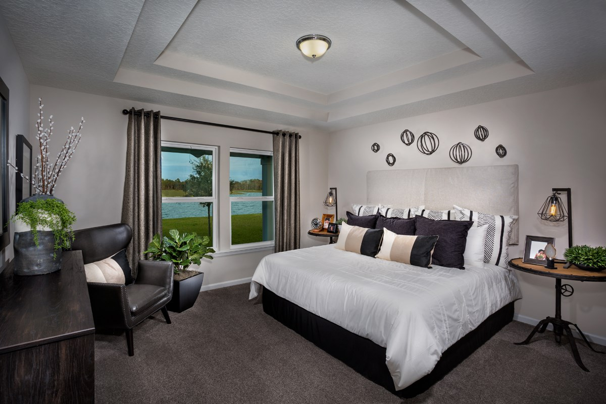New Homes in St. Johns County, FL - Southshore at Bannon Lakes - Classic Series The Kingsley Master Bedroom