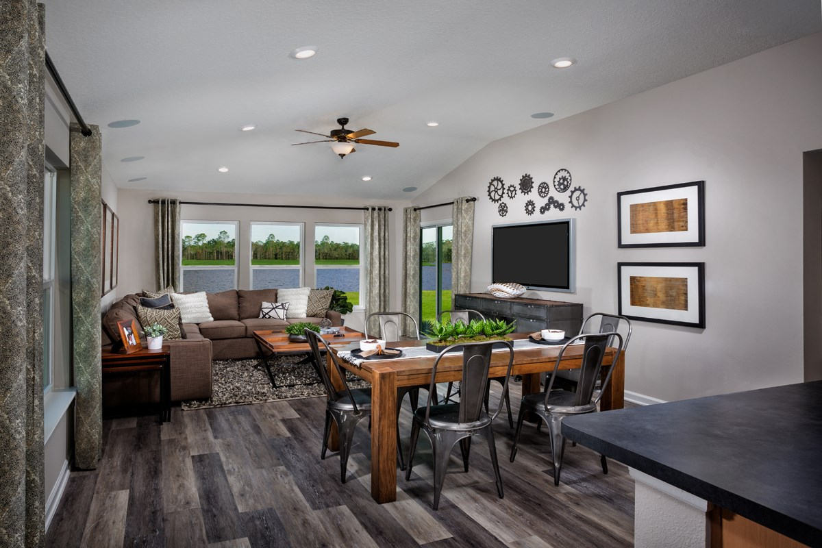 New Homes in St. Johns County, FL - Southshore at Bannon Lakes - Classic Series The Kingsley Great Room