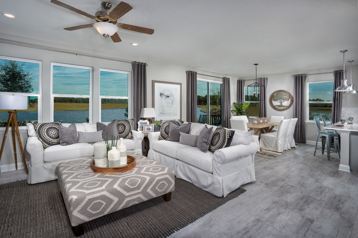 New Homes in St. Johns County, FL - Southshore at Bannon Lakes - Classic Series The Westin Great Room