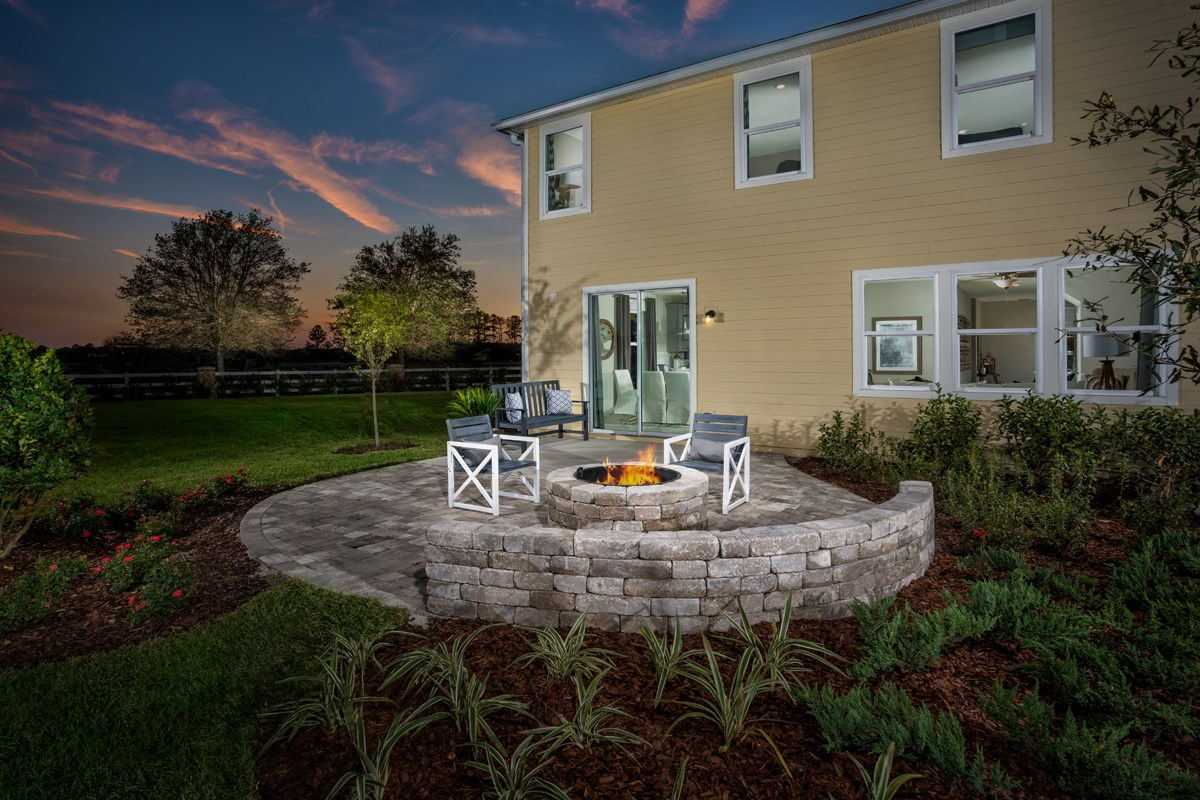 New Homes in St. Johns County, FL - Southshore at Bannon Lakes - Classic Series The Westin Patio