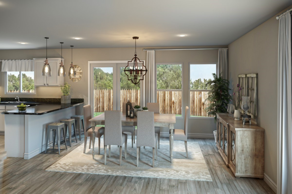 New Homes in St. Johns County, FL - Southshore at Bannon Lakes - Classic Series The Fulton Virtual Model Dining Room