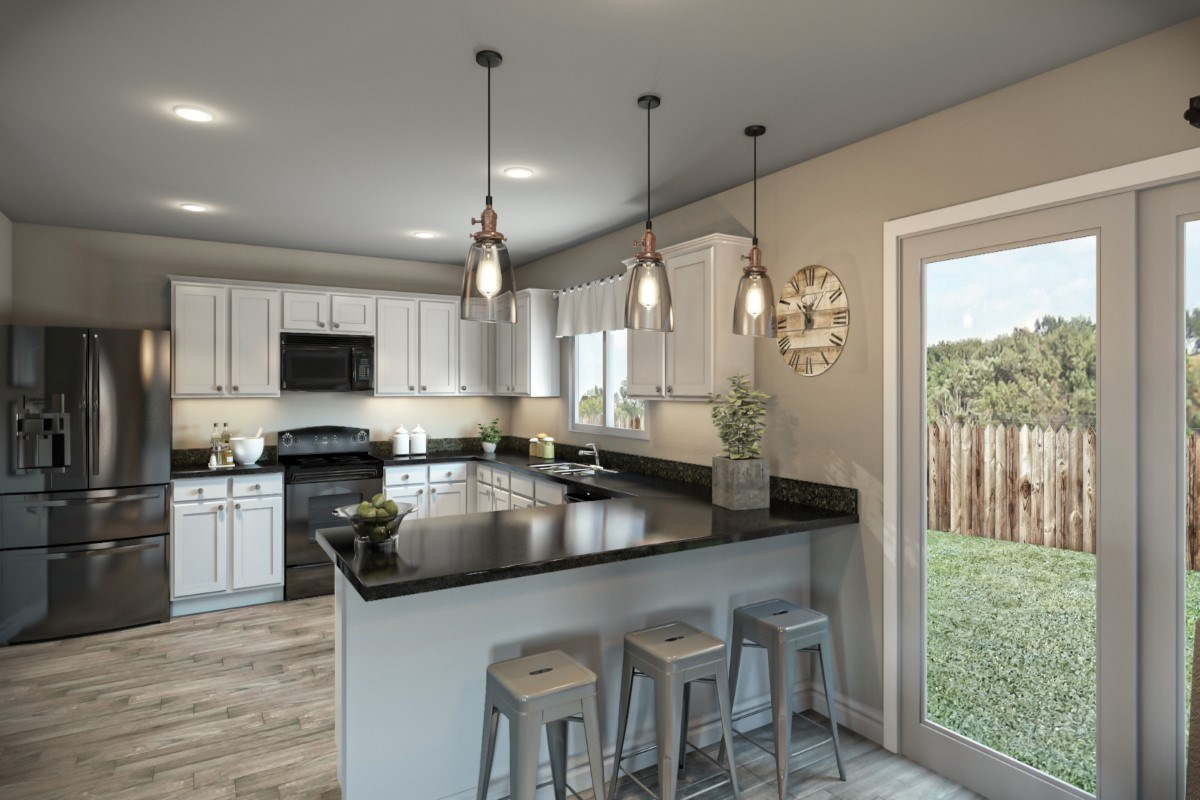 New Homes in St. Johns County, FL - Southshore at Bannon Lakes - Classic Series The Fulton Virtual Model Kitchen