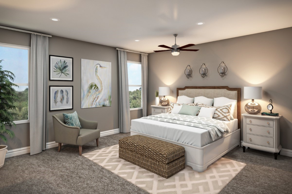 New Homes in St. Johns County, FL - Southshore at Bannon Lakes - Classic Series The Fulton Virtual Model Master Bedroom