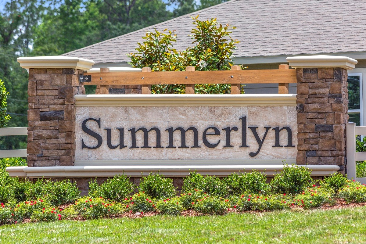 New Homes in Jacksonville, FL - Summerlyn Entry Monument