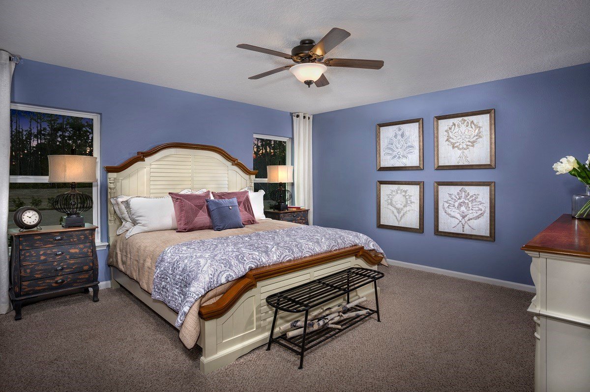 New Homes in St. Augustine, FL - Tomoka Pines The Sullivan Master Bedroom