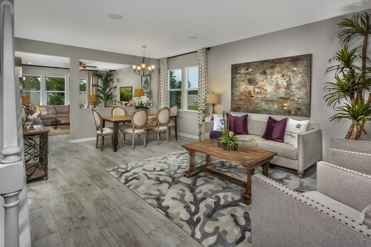 New Homes in Jacksonville, FL - Vista Pointe The Carrington Living Room & Dining Room