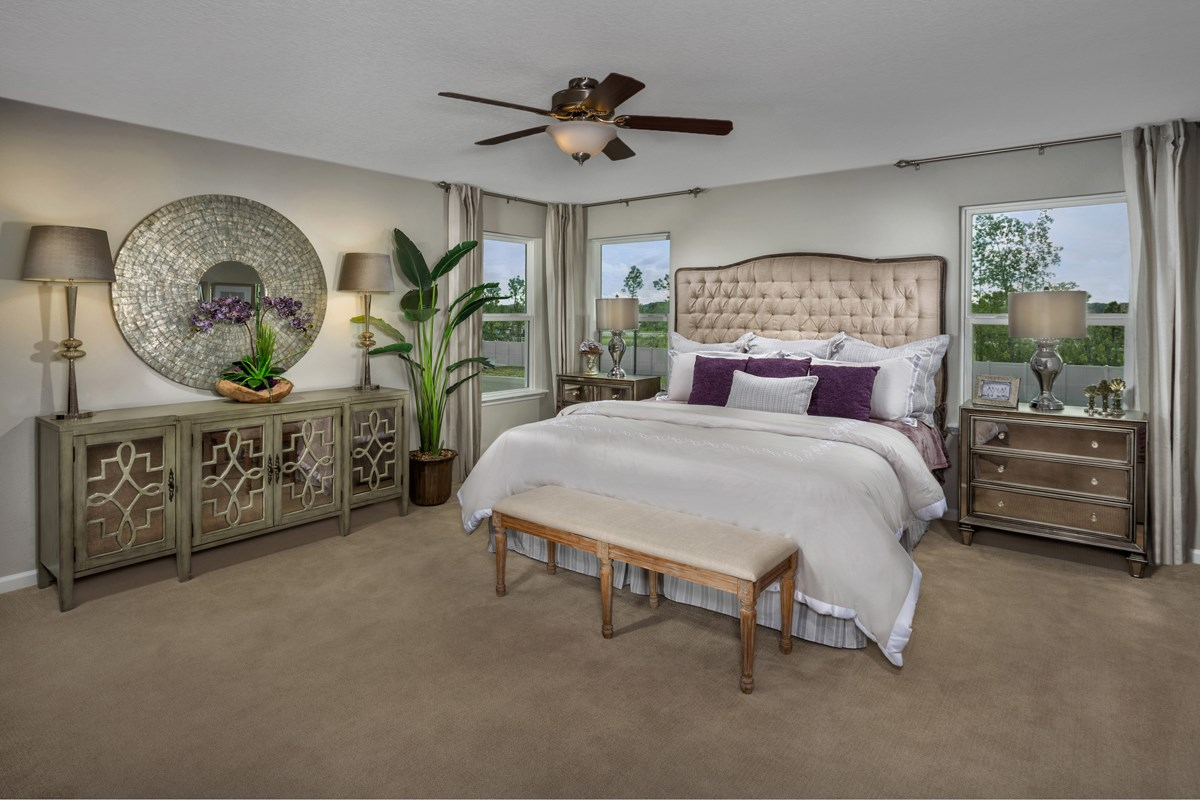 New Homes in Jacksonville, FL - Vista Pointe The Carrington Master Bedroom