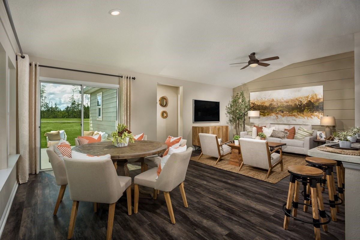 New Homes in Jacksonville, FL - The Preserve at Wells Creek - Classic Series The Branson Great Room