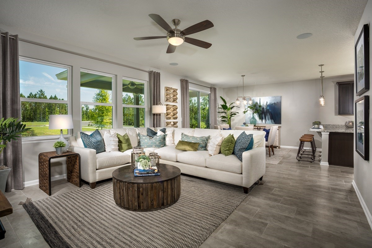 New Homes in Jacksonville, FL - The Preserve at Wells Creek - Classic Series The Westin Great Room