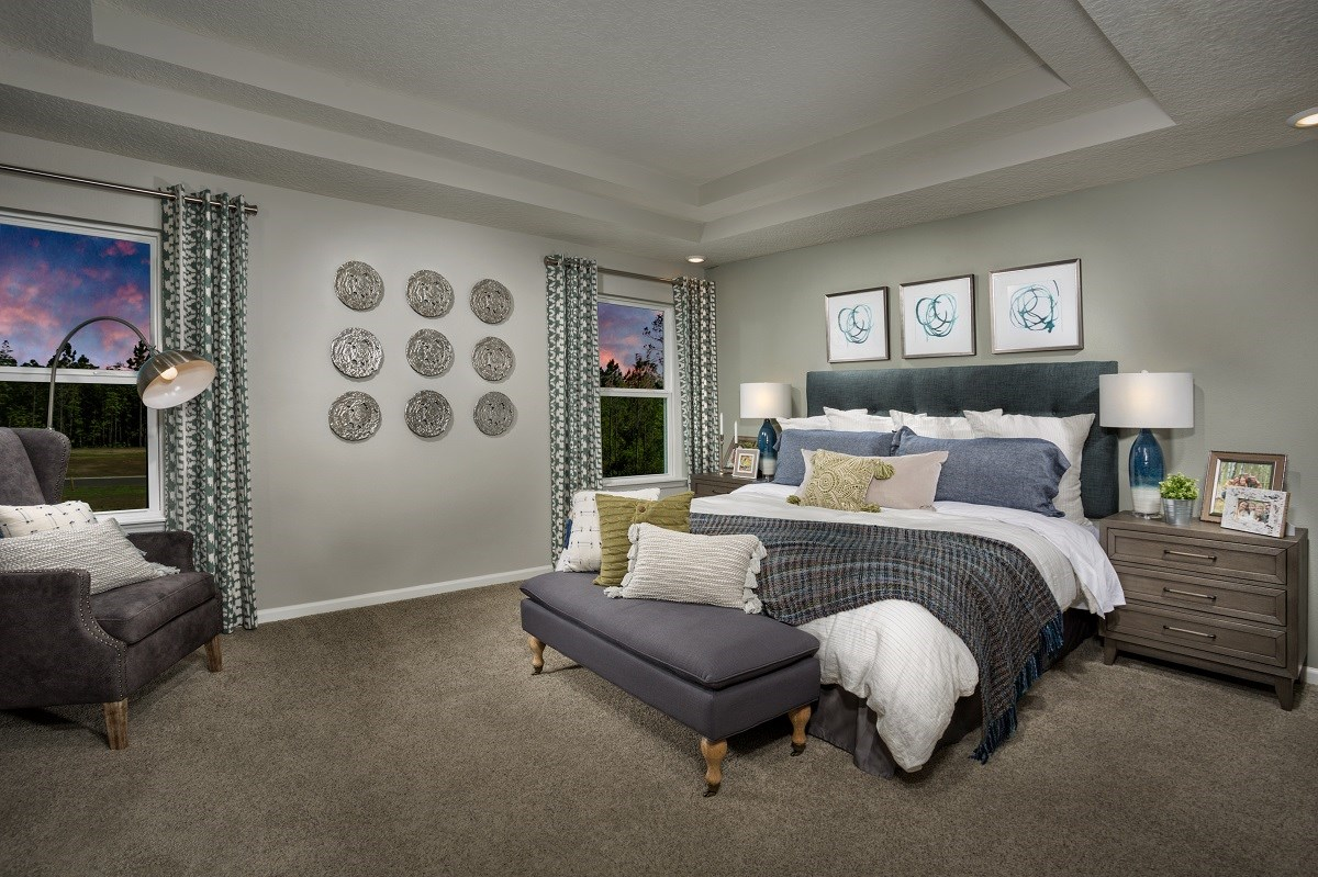 New Homes in Jacksonville, FL - The Preserve at Wells Creek - Classic Series The Westin Master Bedroom