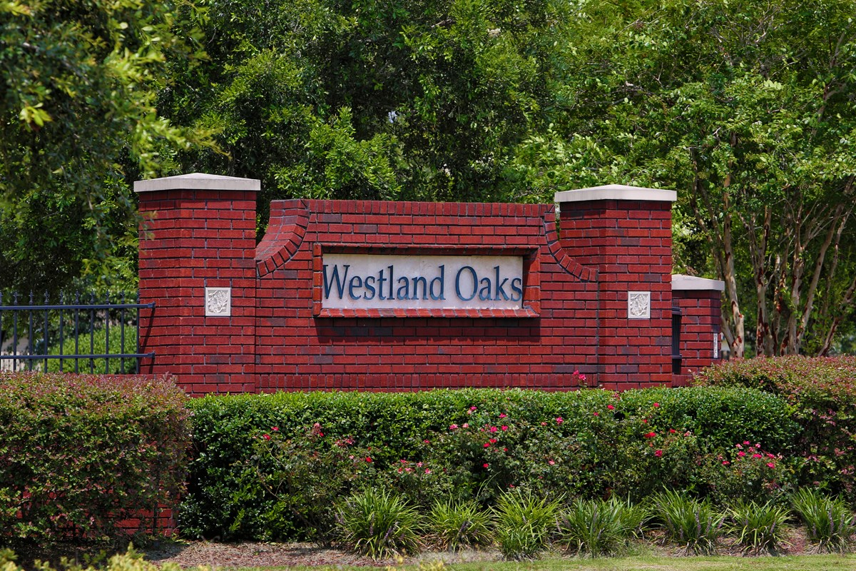 New Homes in Jacksonville, FL - Westland Oaks Entry Monument