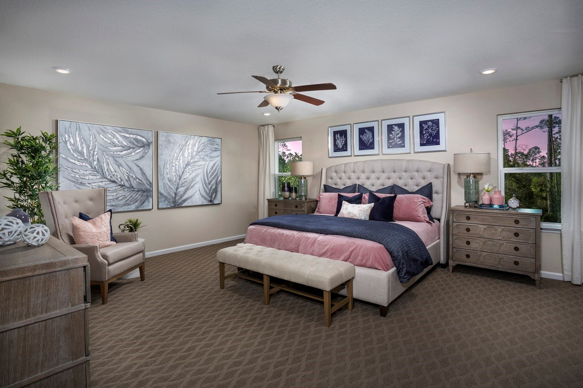 New Homes in Jacksonville, FL - Williamstown The Madison Master Bedroom