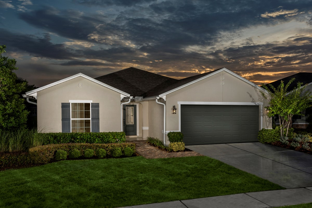 New Homes in Jacksonville, FL - Wyndham Place The Sutton Exterior as modeled at Westland Oaks