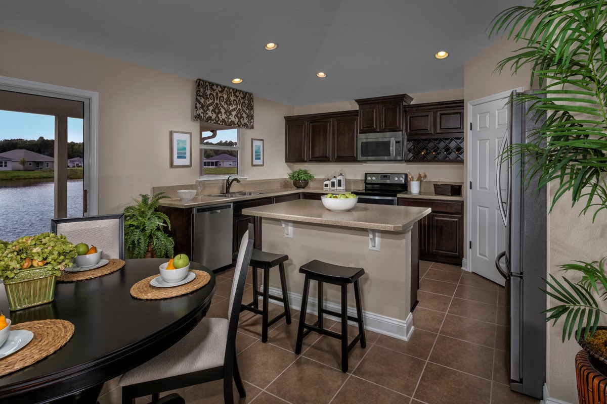 New Homes in Jacksonville, FL - Wyndham Place The Sutton Kitchen as modeled at Westland Oaks