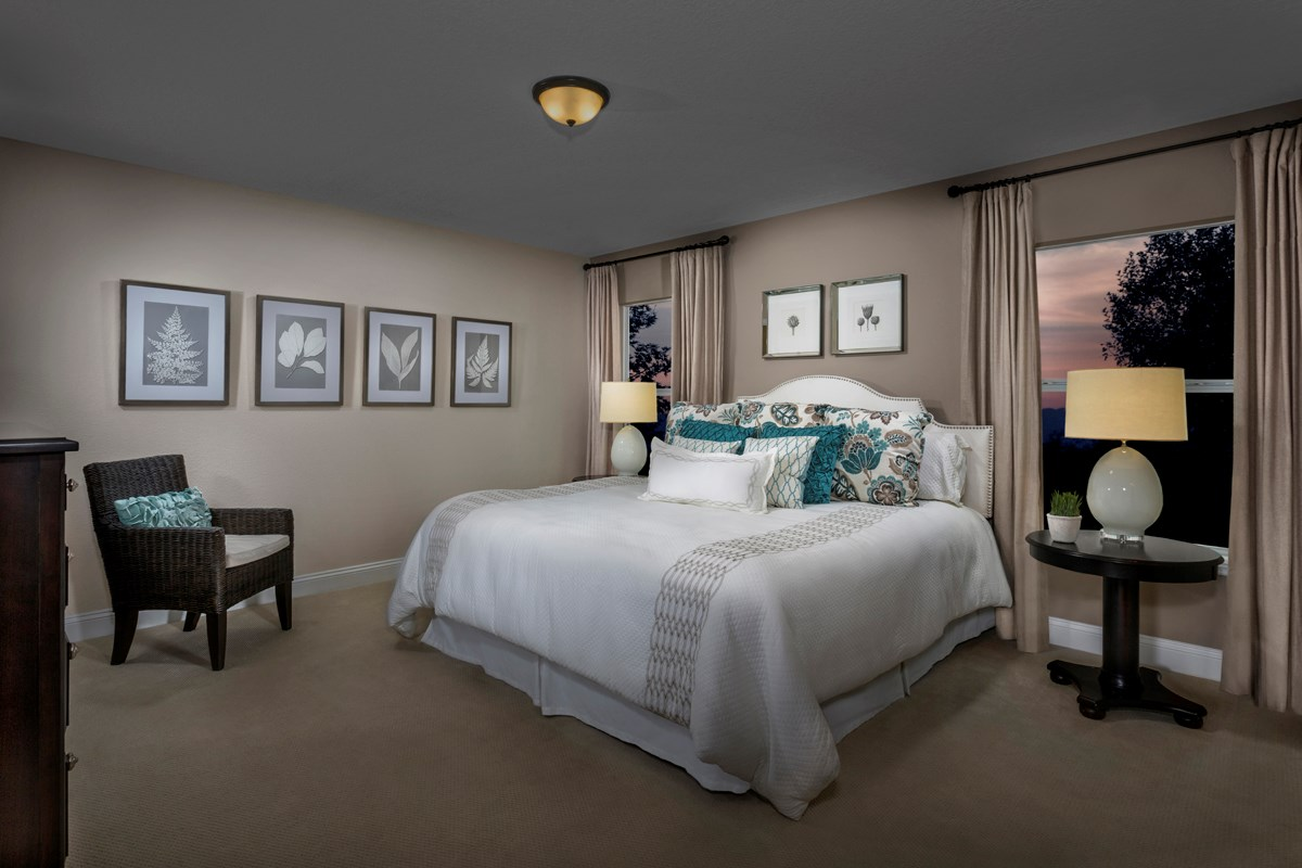 New Homes in Jacksonville, FL - Wyndham Place The Sutton Owner's Suite as modeled at Westland Oaks