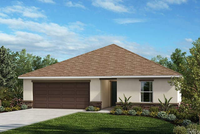 New Homes in Lakeland, FL - Elevation A (with optional Stone)