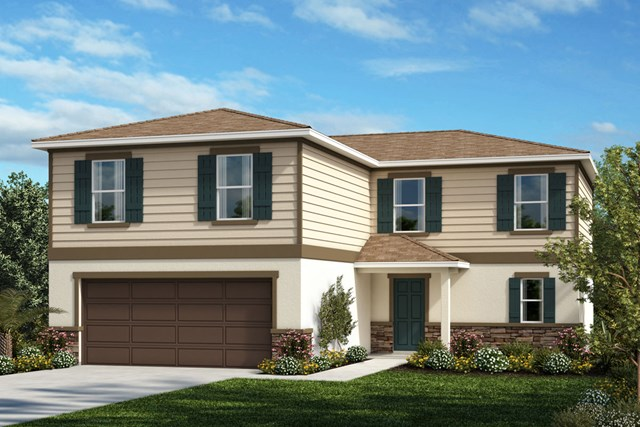 New Homes in Lakeland, FL - Elevation E (With Optional Stone)